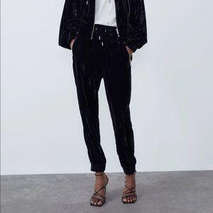 Zara Velvet Jogging Trouser Xsmall